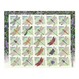 Malaysia 2000 Dragonflies & Damselflies sheetlet of 25V  (no value indicator) Mint MNH SG #970a