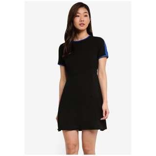 Duo Tone Short Sleeve Dress