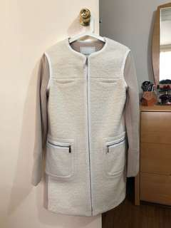 Size 8 Forever New Wool Blend Coat