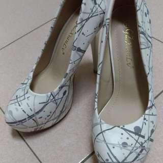 🚚 超高性感跟鞋 水墨紋