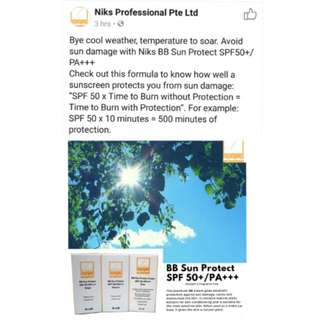 😍$29.95 ONLY!!!🌞ACHEIVE KOREAN GLASS LIKE SKIN WITH THIS PREMIUM HIGH SUN PROTECTION BB CREAM!!! Niks BB Cream (Natural) 💫BRAND NEW & SHRINKED WRAPPED💫