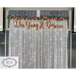 Wedding Fairylights Backdrop (Classic)