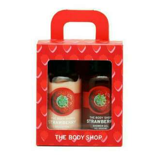 The body shop set shower gel and lotion