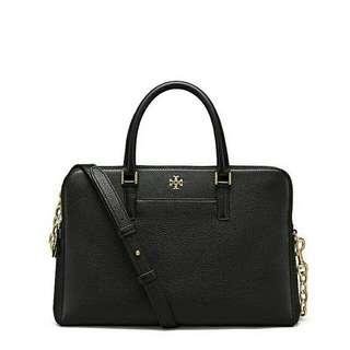 Ready authentic ori TORYBURCH georgia pebbled double zip satchel