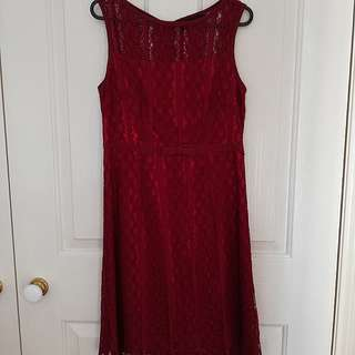 Formal red dress (mid length)