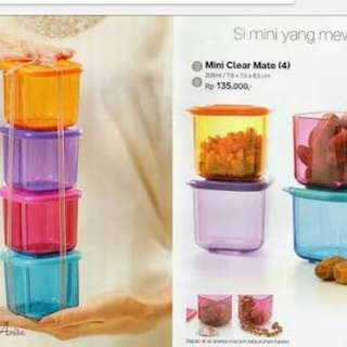 Tupperware Toples mini isi 4pcs