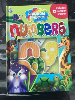 Numbers story book with number shapes