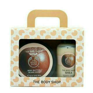 The body shop shower gel set with body butter
