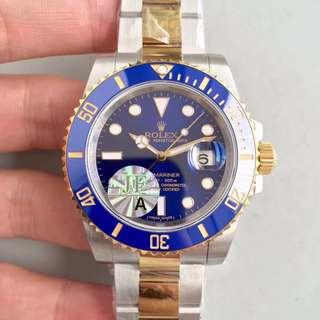 Rolex Submariner 116613LB 間金藍水鬼 40mm 頂級錶 面交 3135機芯