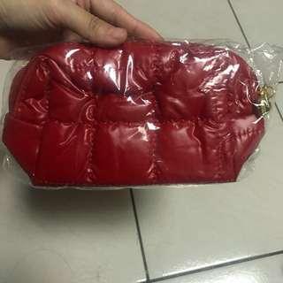 紅色 拉鍊化妝包