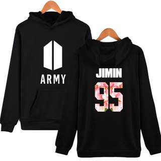 BTS Army Sweater Hoodie 95 JIMIN Black and White