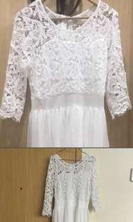 Brand new lace Long wedding/party gown