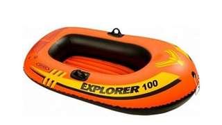 Intex Explorer 100 boat float with oars