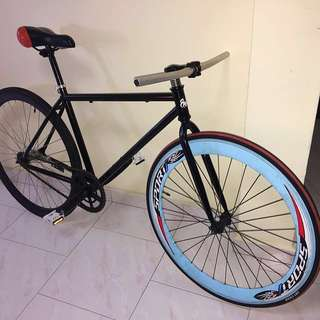 Used fixie or Coaster bike - hub brake / swap to fixie - all new except wheels and saddle