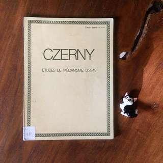 CZERNY etudes de mécanism for piano Op.849