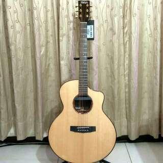 【Truman面單板電木吉他】購入約一個月,沒空玩,只彈兩次,幾乎全新,割讓給喜愛音樂的您,桃園自取,0912219881黃先生