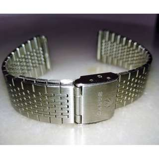 Vintage Sanyo Watch Metal Bracelet 20mm