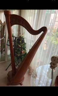 藝音豎琴harp40弦琵琶肚