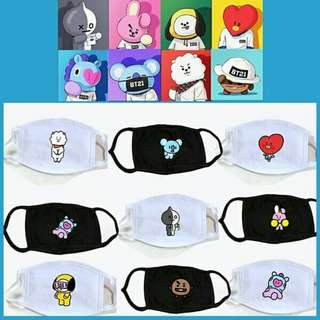BT21 mouth mask