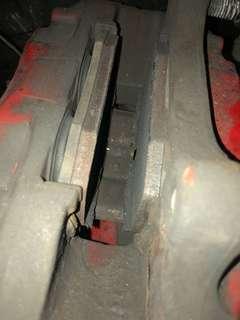PMU disc rotor / Raybesto High temp brake pas