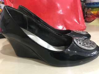 Fioni wedges shoes black (hitam)