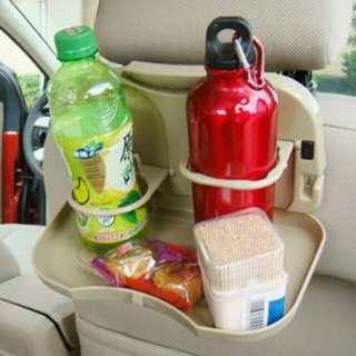 車用小餐盤置物盤 飲料架 水杯架 可折疊飲料架餐桌 3色