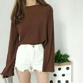 Kaos T Shirt Lengan Panjang Korea Model Longgar