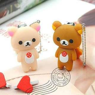 拉拉熊 小白熊 造型指甲剪 鑰匙圈