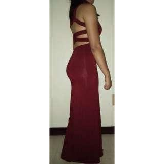 Sexy Back Long Dress