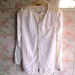 LOGG H&M Long blouse with detail on top