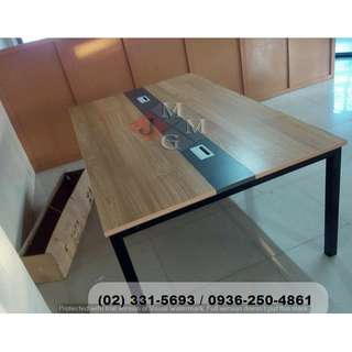 Conference Table With Wire Management - Office Partition