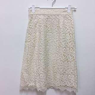 日本日牌超美蕾絲半身裙