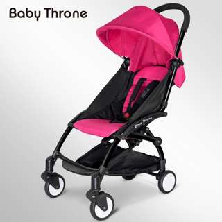 ORIGINAL Pink Baby Throne Stroller – Classic (Ultralight weight)