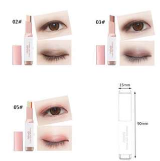 Novo Double Colour Gradient Velvet Waterproof Shimmer Eye Makeup / Eyeshadow Stick