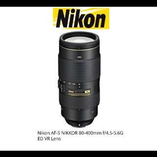 Nikon AF-S 80-400mm ED VR Lens