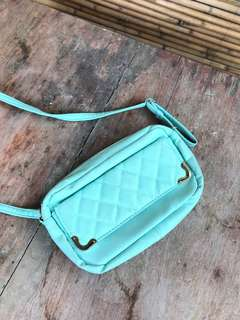 Item 023: tiffany blue sling bag