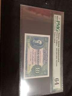 Malaya&british administration 1941 $10cent