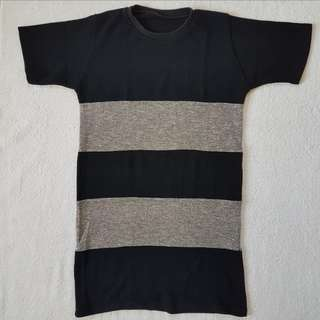 Black & Glittered Stripey Dress