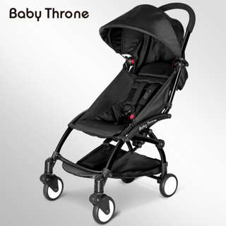 ORIGINAL Black Baby Throne Stroller – Classic (Ultralight weight)