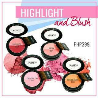 M&Co. Blush&Highlighter with Milk, SPF15
