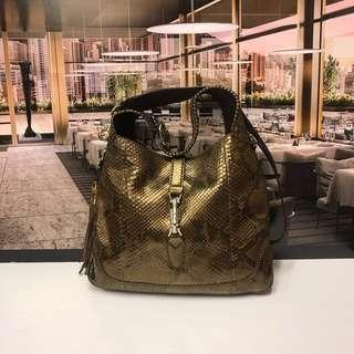 清貨Gucci Snake Skin Handbag