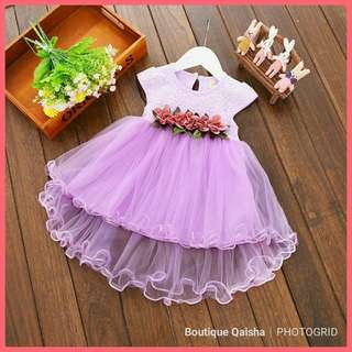 Floral Dress Baby Princess - PURPLE