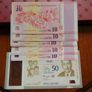 SG50 Commemorative Notes set