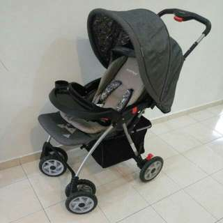 2 In 1 Polo Sweetheart Paris Stroller And Carrier Car Seat