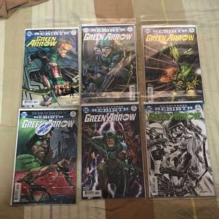 DC comic rebirth titles Green Arrow