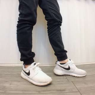 NIKE Roshe one Roshe run 白底黑勾
