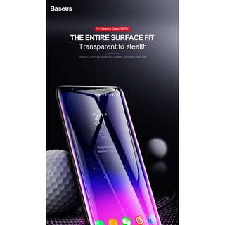 Samsung Galaxy S9 S9 Plus Note 8  Baseus  Tempered Glass