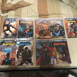 DC comic Nightwing titles