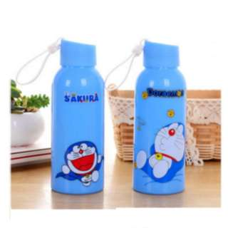 Botol minum kaca bekal anak sekolah motif kartun 300ML murah - KHB007