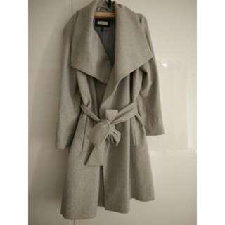 Mango 翻領羊毛大衣 外套